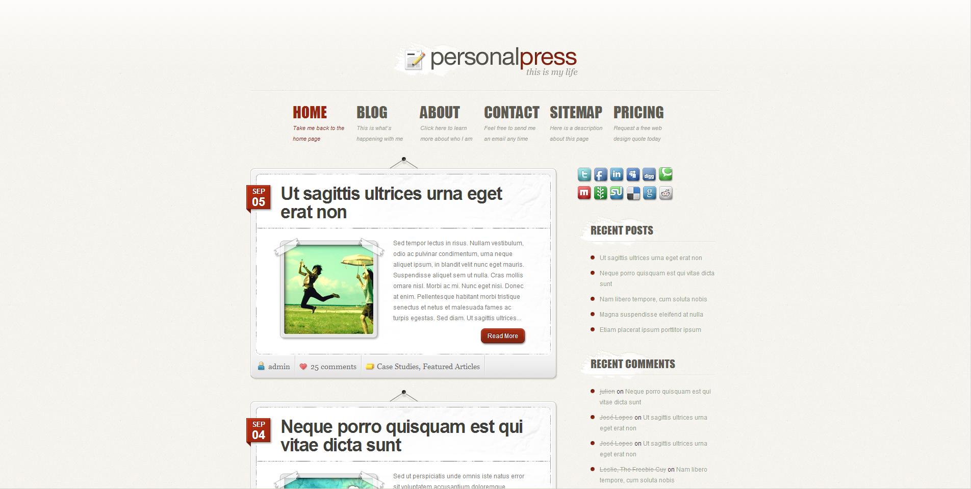 PersonalPress Theme
