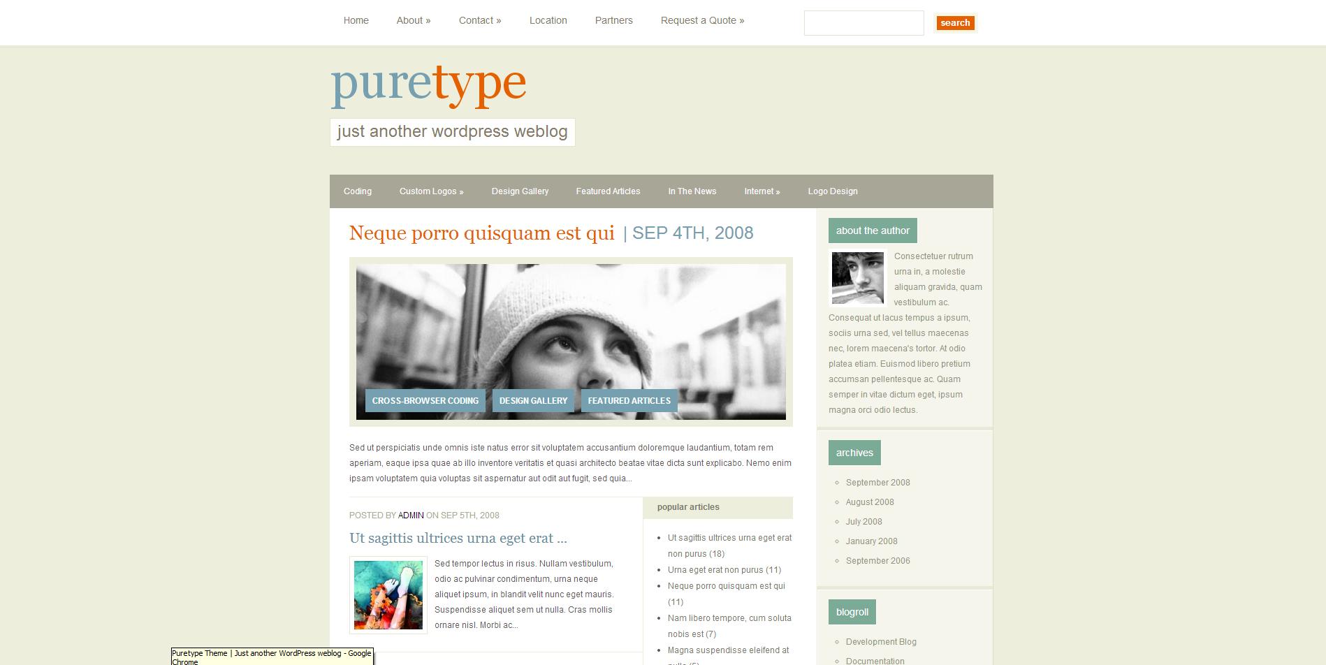 PureType Theme
