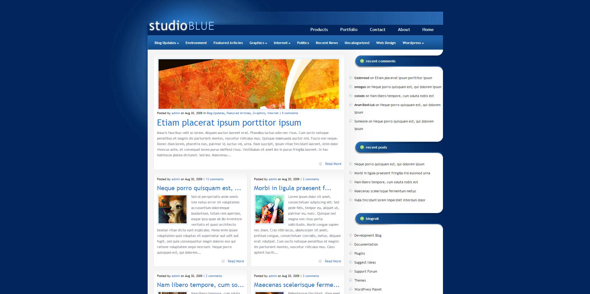 Studio Blue Theme